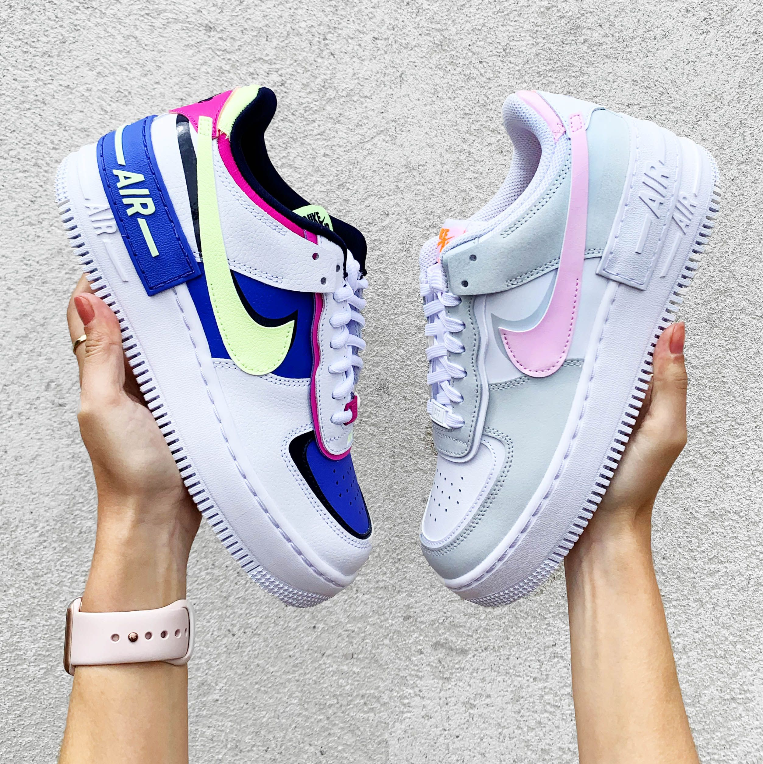 Nike Air Force 1 Shadow Pastel Colourful Chunky Wo