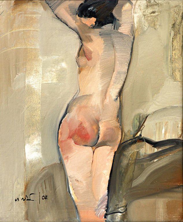 "Tei O Talota; Oil, 2008, Painting ""Nude"""