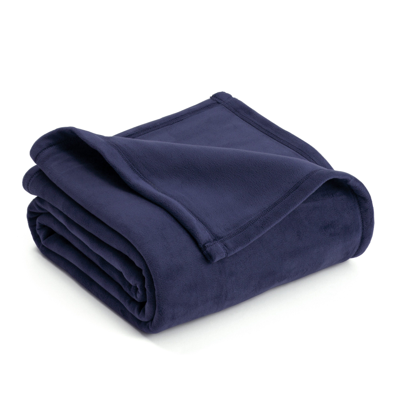 Vellux Plush Blanket - Full/Queen / Navy