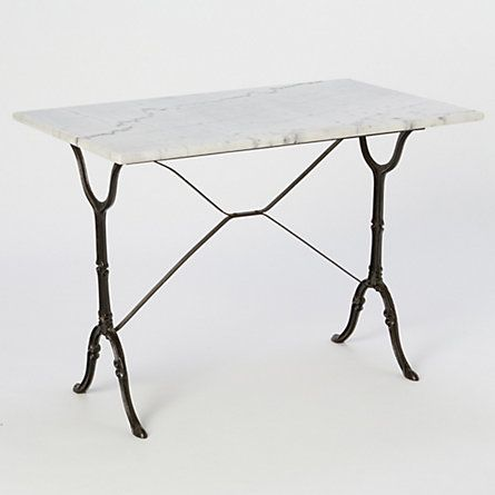 Classic Marble Bistro Style Table.