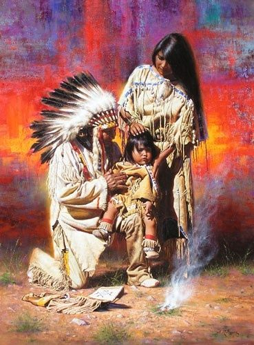 alfredo rodriguez artist | Three Generations | Alfredo Rodriguez (AMERICAN INDIAN ART)