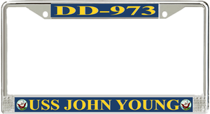 Uss John Young Dd 973 License Plate Frame License Plate Frames License Plate Plate Frames