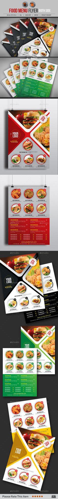 Food Menu Flyer Template #design Download    graphicrivernet - menu flyer template