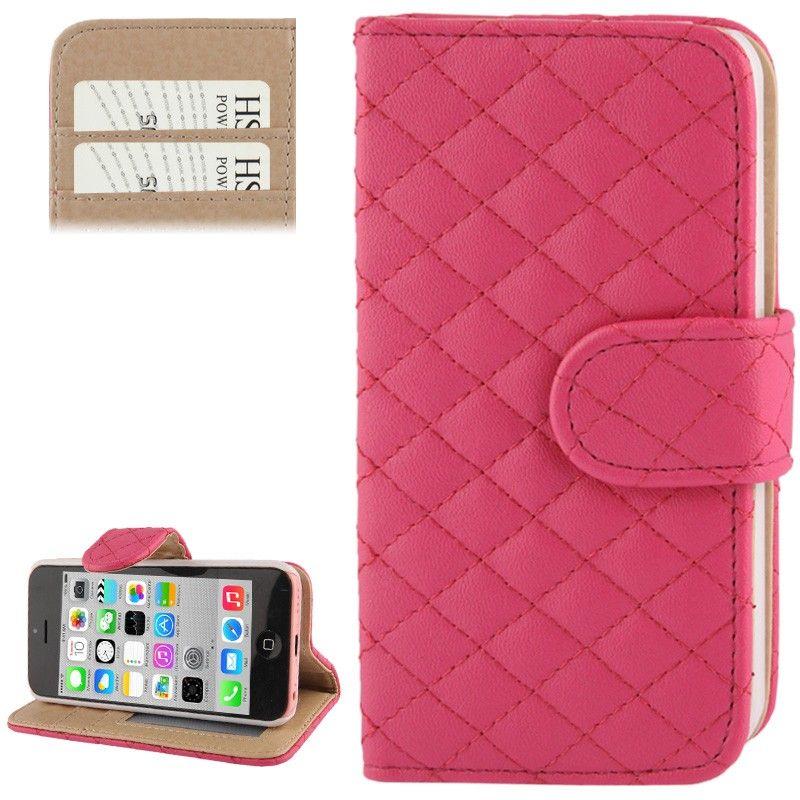Etui Portefeuille Matelassé pour iPhone 5C Style Chanel avec Porte ...