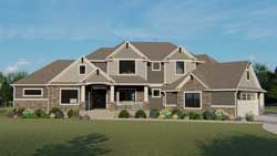 Traditional House Plan 6 Bedrooms 4 Bath 3563 Sq Ft Plan 104 197