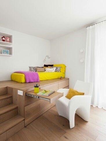 organizar espacio pequeño Decoración Pinterest Espacios - decoracion de espacios pequeos