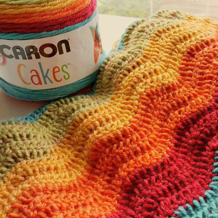 Rainbow Ripple Made With Caron Cakes Yarn Perfect Rainbow