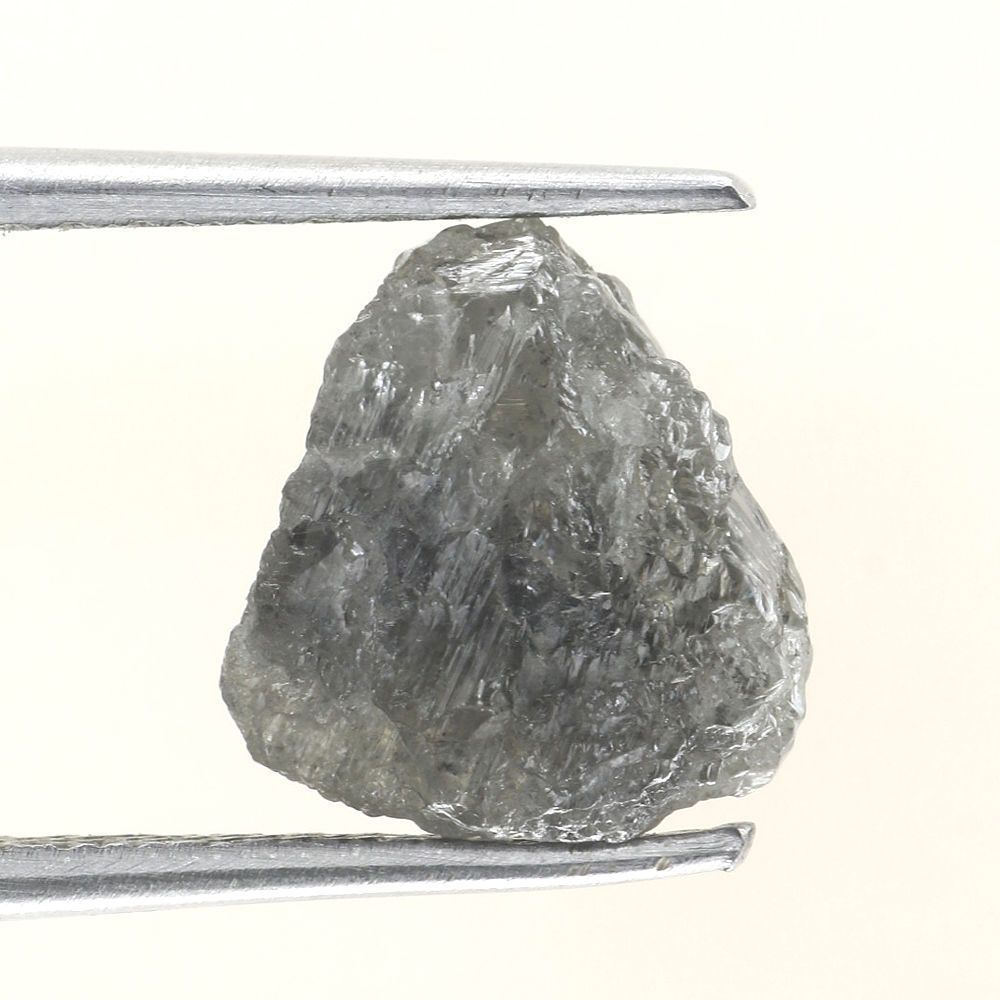 2.17 CTS RAW UNCUT NATURAL GRAYISH  COLOR ROUGH DIAMOND PIECE