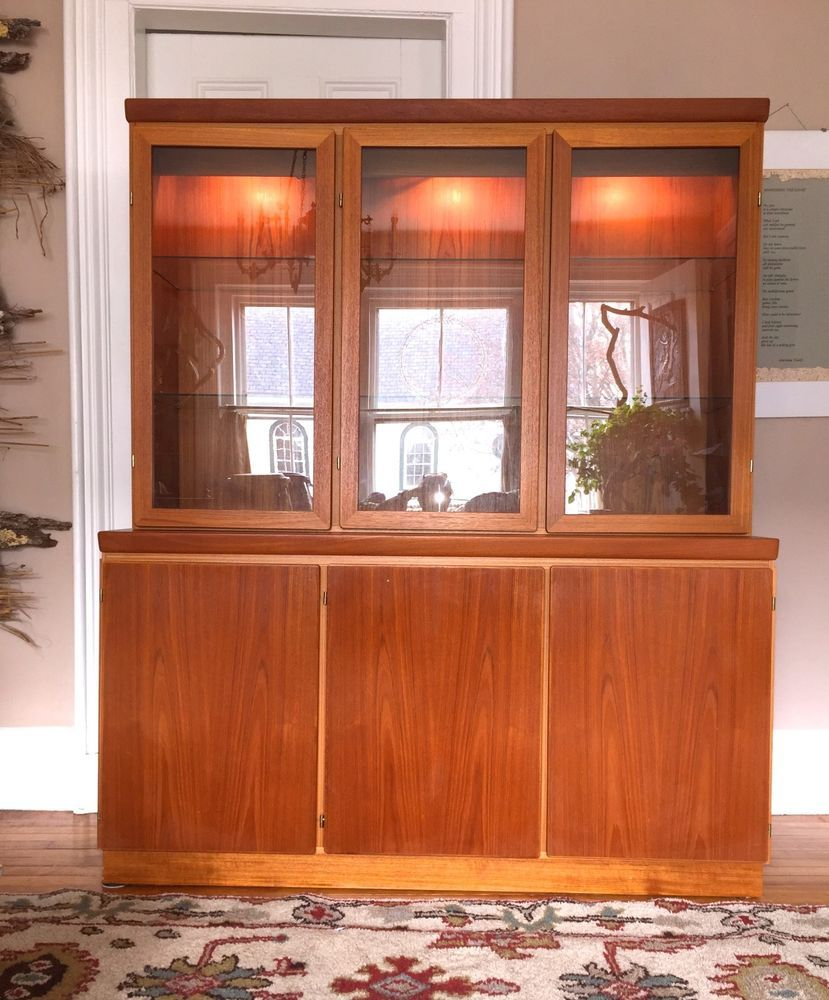 TEAK China Cabinet SKOVBY Mid Century Danish Modern ~ | China ...