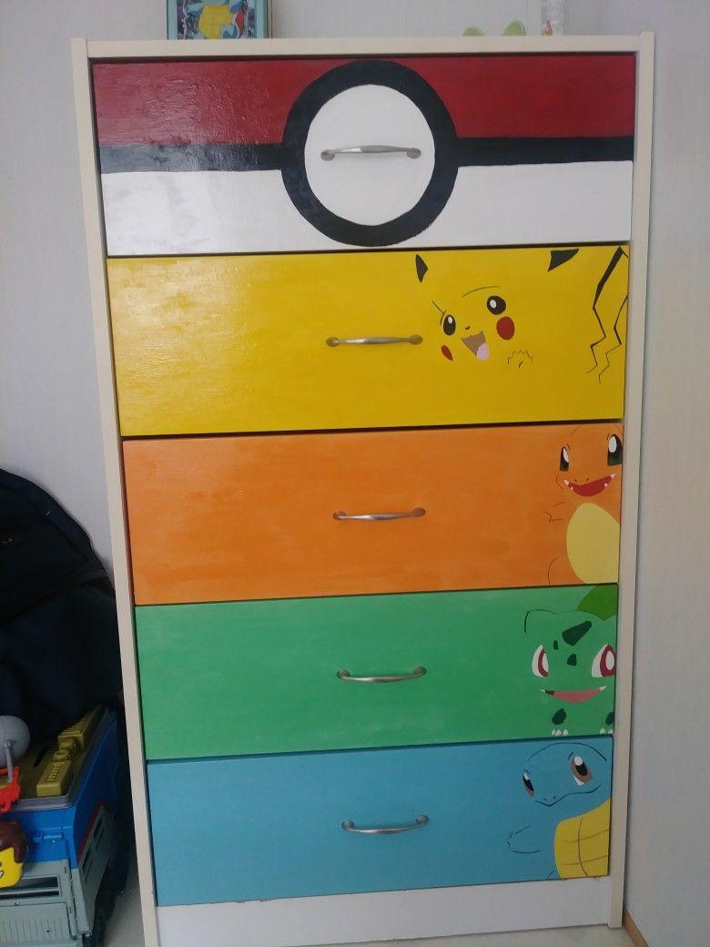 Pokemon Dresser Pokemon Room Pokemon Decor Boys Bedroom Decor
