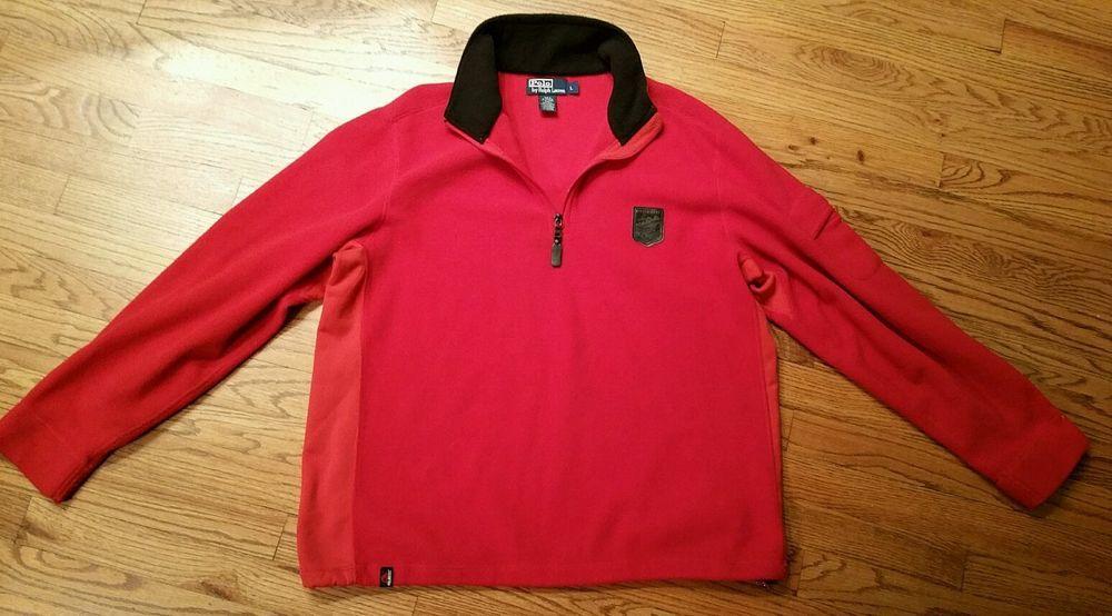 Polo Ralph Lauren Polartec Fleece Ski Patch 1967 Half-Zip Pullover Sweater Men L #PoloRalphLauren #12Zip