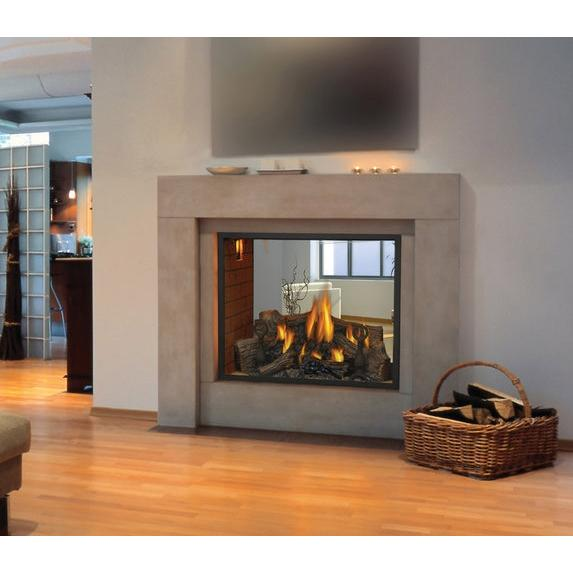 Napoleon HD81 Direct Vent Natural Gas See-Thru Fireplace : Gas Log ...