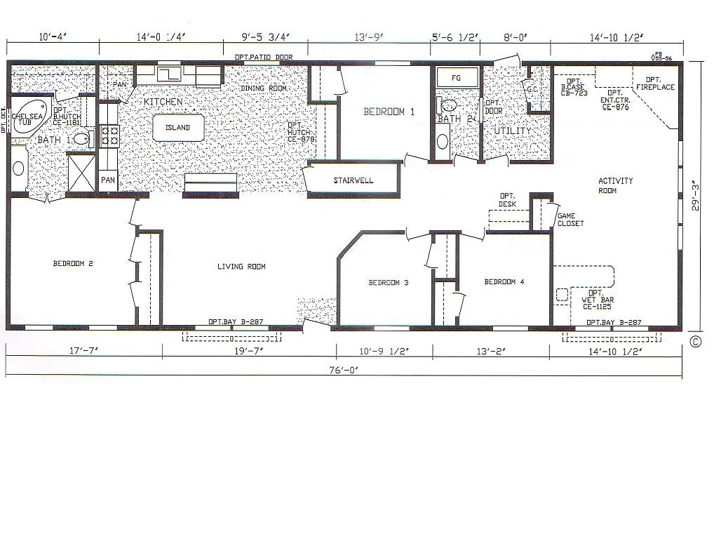 Yes. Wet Bar. Floor Plan For 4 Bedroom 3 Bathroom Mobile