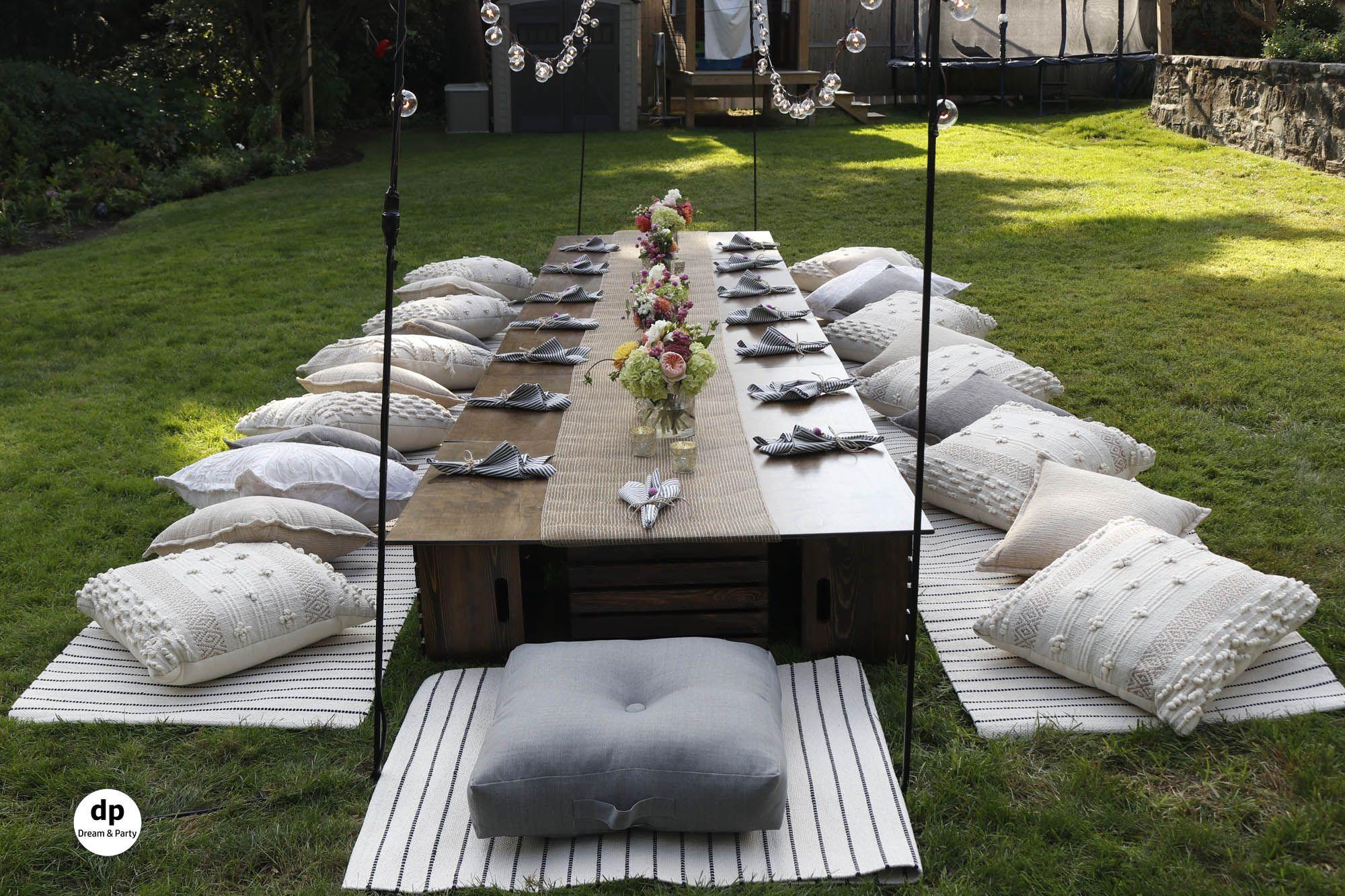 Backyard Picnic Setting. Birthday Party Ideas. | Backyard ...