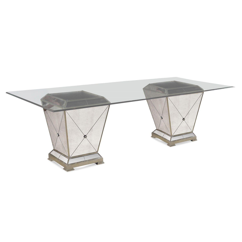 Bassett Mirror 8311 601 909ec Double Pedestal Dining Table Dining Table Rectangle Dining Table