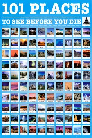 places 101 bucket travel poster allposters lists posters visit before die vacation prints things destinations place sp want spots summer