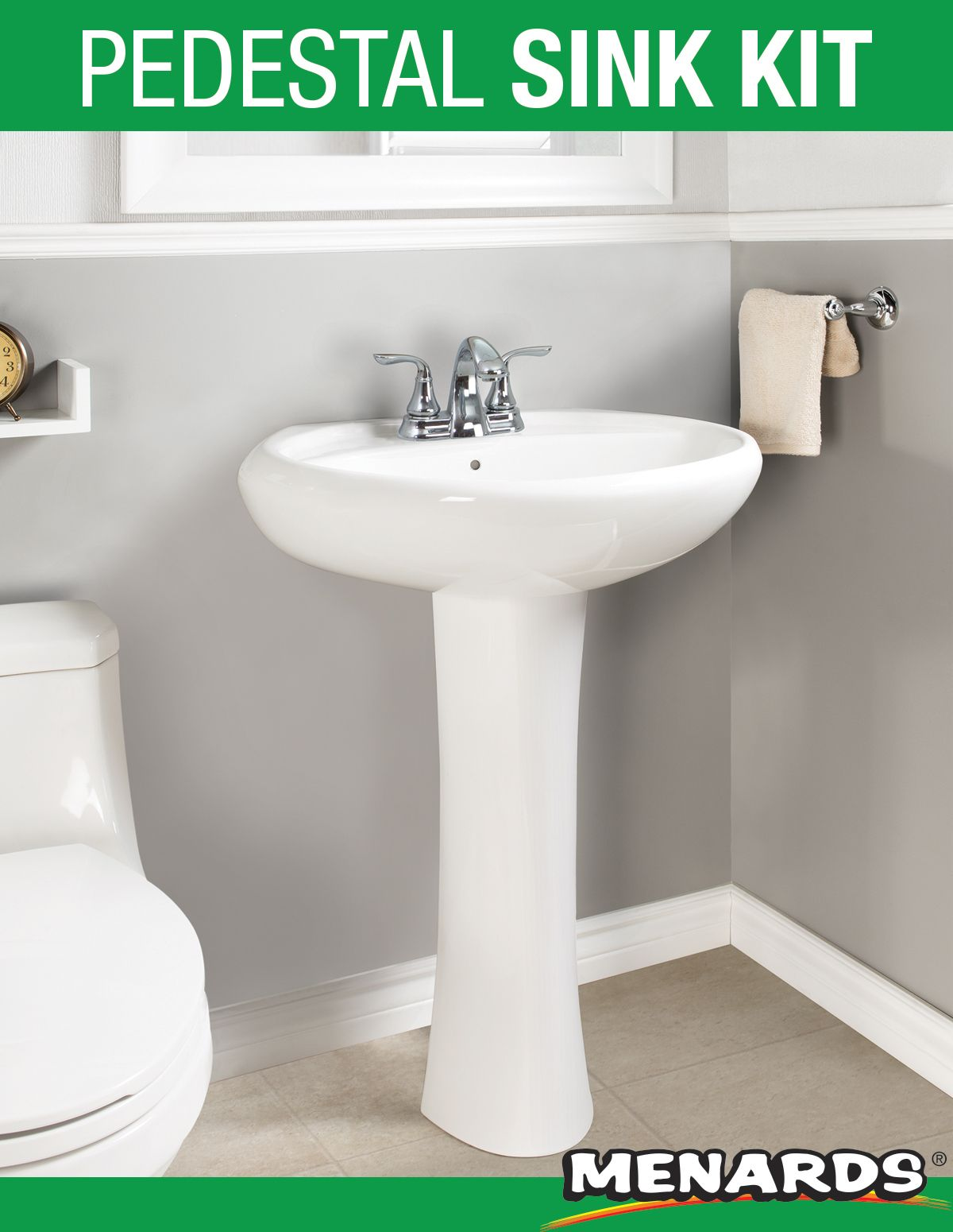 The Frederic Pedestal Express Pedestal Sink Kit Makes Updating