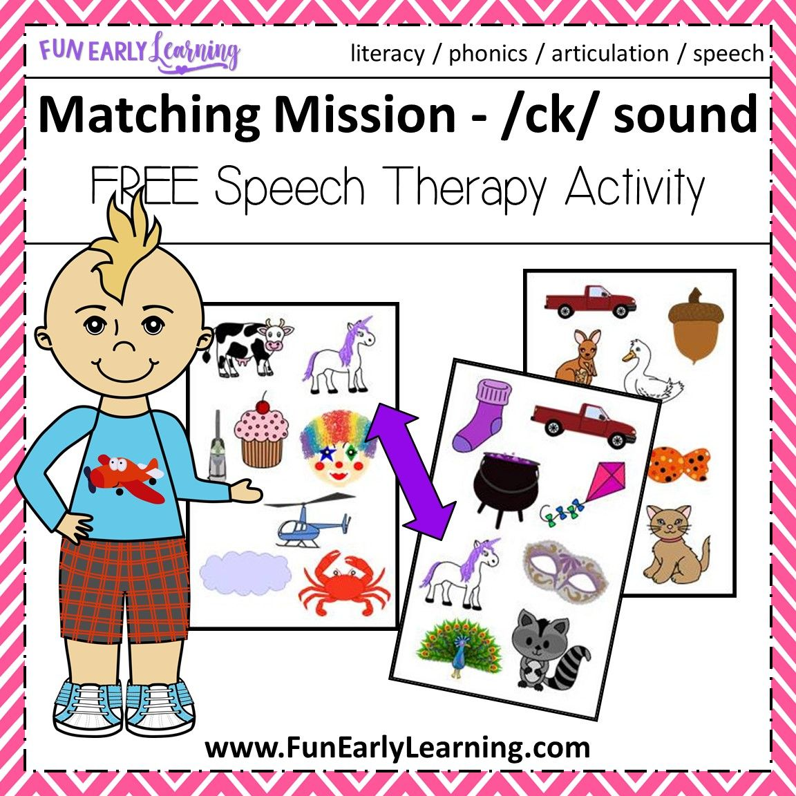 Matching Mission Ck Sound Articulation Game