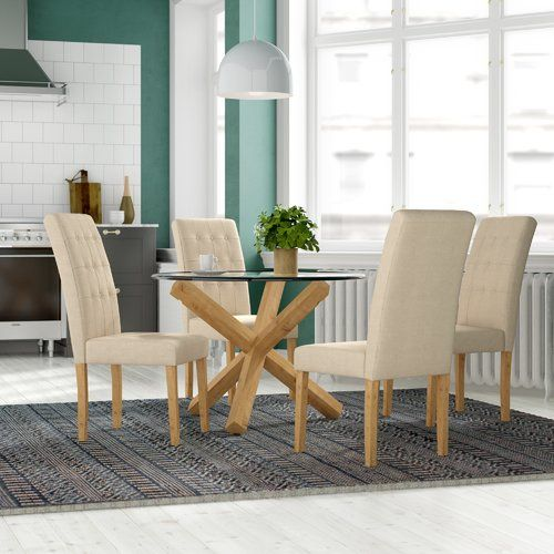 Fantastic Oporto Dining Table With 4 Chairs Riley Ave Colour Beige Uwap Interior Chair Design Uwaporg