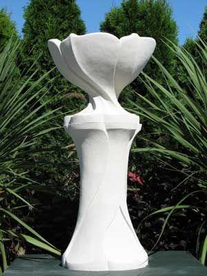 Art nouveau vase and pedestal.
