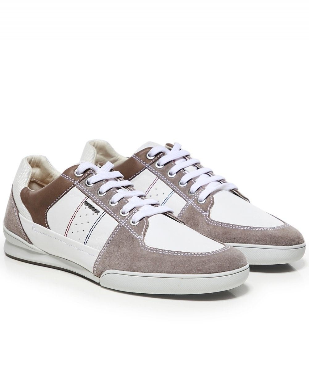 GEOX LEATHER KRISTOF TRAINERS COLOUR