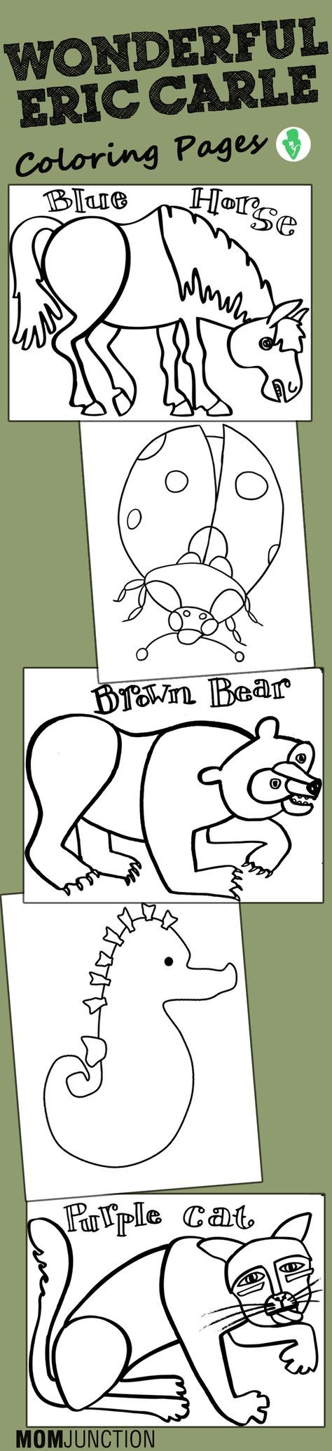 Eric Carle Coloring Pages Free Printables Eric Carle Preschool Coloring Pages