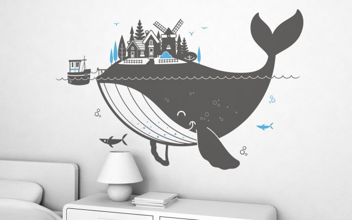 Whale Kids Wall Decals (XL)