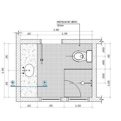 Projeto De Paginação De Piso Banheiro Desenho Técnico