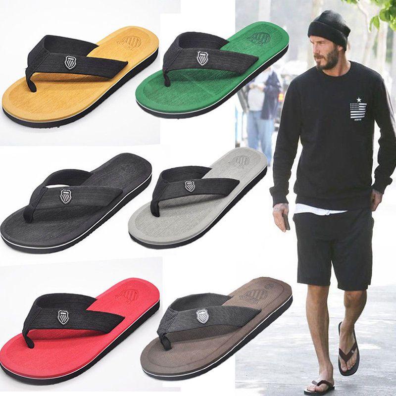 f5b9cd3c40c7 New Men s Summer Sport Beach Flip Flops Slippers Sandals Shoes Beckham   Unbranded  Fisherman