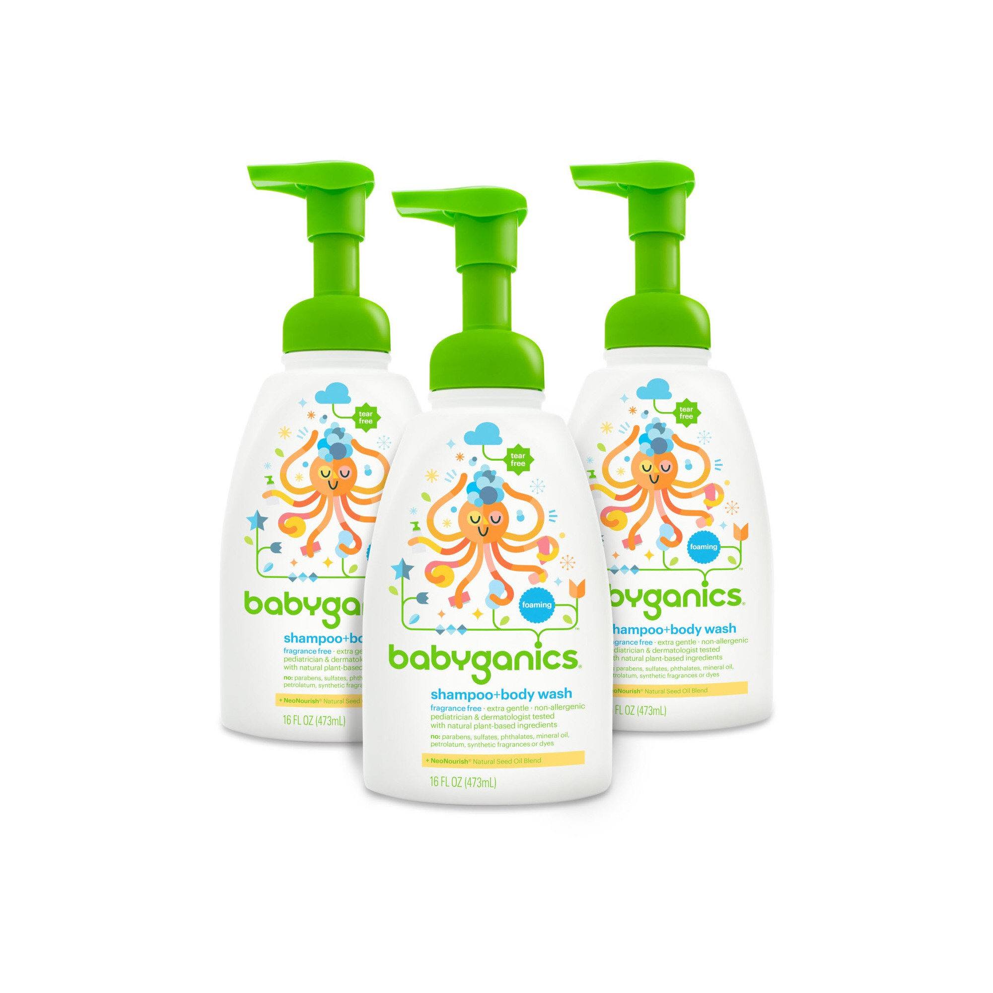 Babyganics Shampoo Body Wash Fragrance Free 16oz 3pk Shampoo Body Wash Fragrance Free Products Fragrance Free Shampoo