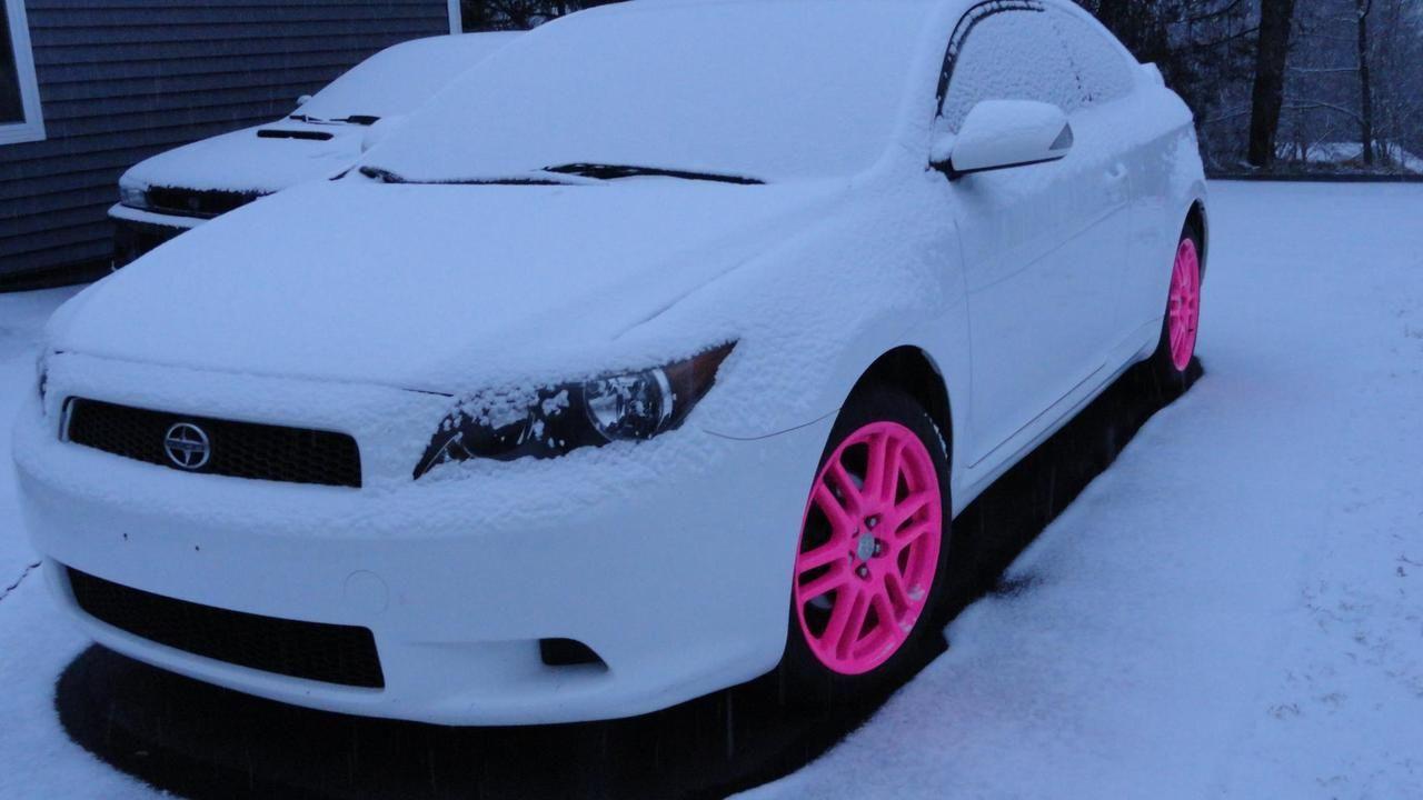 Pin By Keri Newsom On Just Car Things Pink Rims Scion Tc Pink Car
