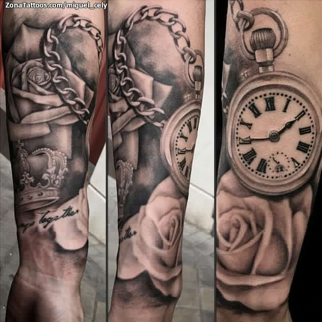 Uhr tattoo oberarm frau 21+ Listen
