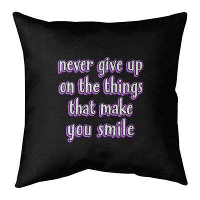 East Urban Home Joy Perseverance Floor Pillow Size 36 H X 36 W Color Purple True Beauty Quotes Linen Pillow Covers Pillow Size