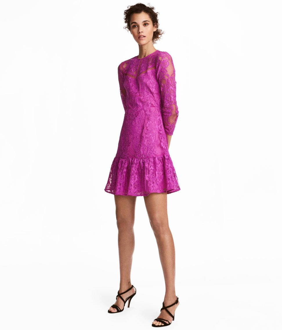 Lace Dress | Magenta | WOMEN | H&M US | Retail Therapy | Pinterest ...