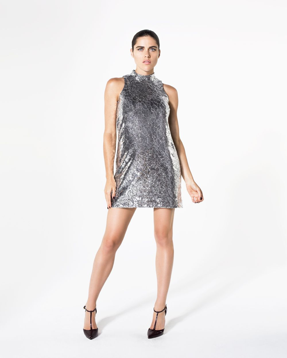 ELLE by RW&CO | Mirror effect sequined dress | Work | Pinterest