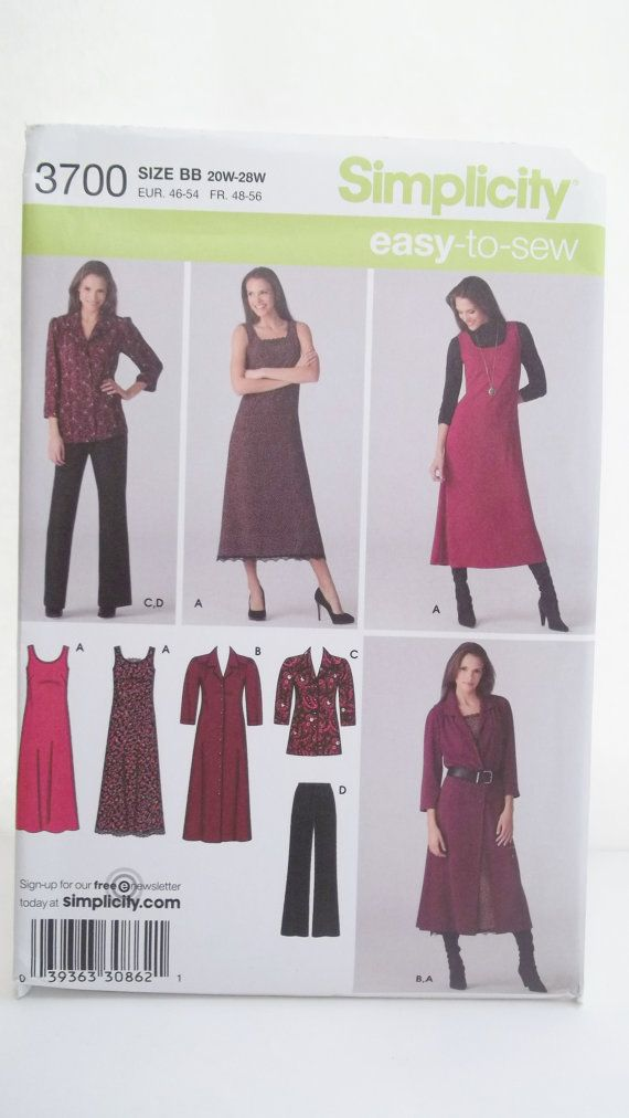 Easy to Sew Women's Plus Size Wardrobe Simplicity by WitsEndDesign