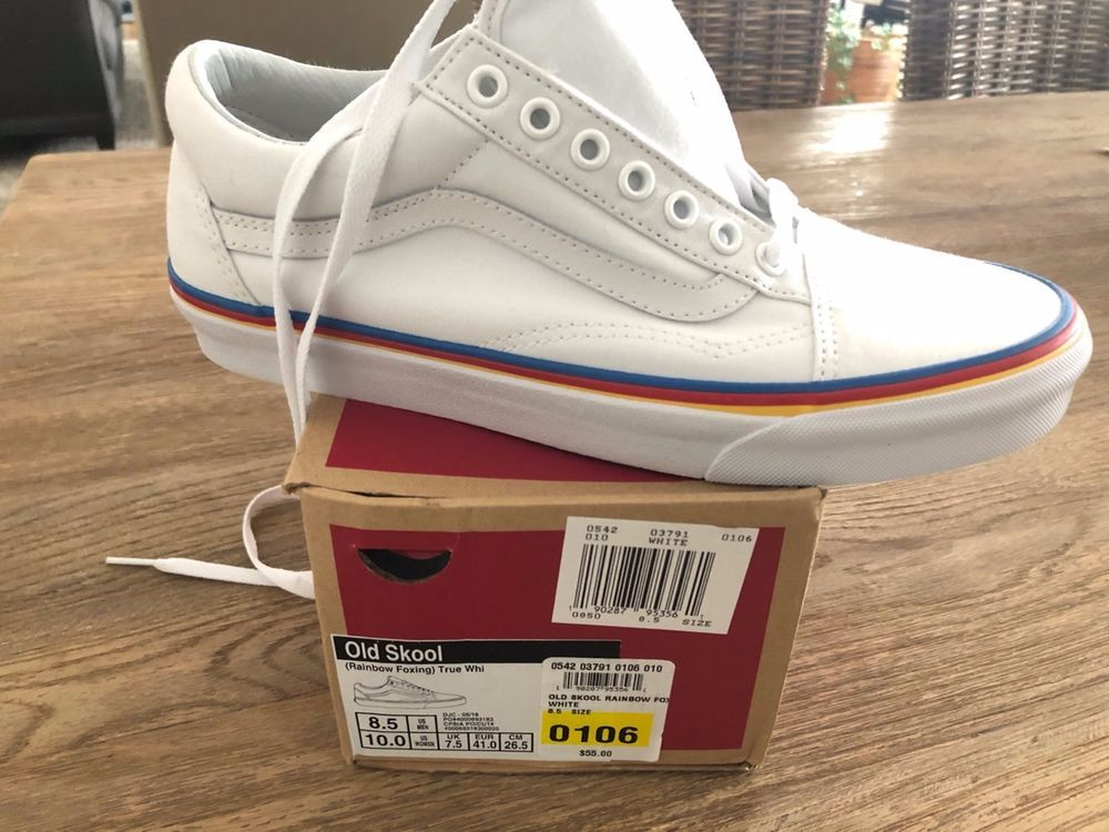 NEW VANS WOMEN'S RAINBOW FOXING OLD SKOOL SNEAKERS-never worn ...