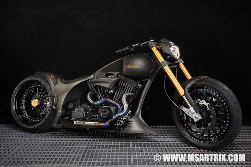 Harley Davidson Screamin Eagle Chopper Black Gold By Ms Artrix Harley Davidson Harley Davidson Chopper Harley Davidson Bikes