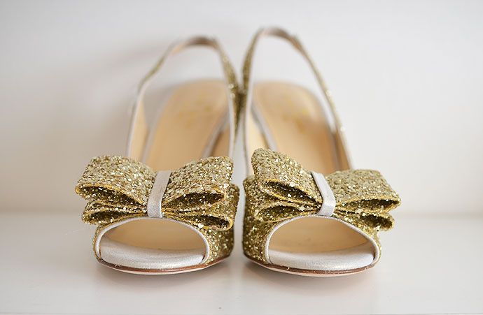 b1ae7f90c83 gold glitter slingbacks with bow and high heel