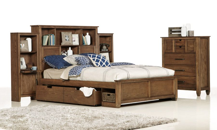 Hampton King Size Timber Bed ($2399) Four underbed drawers, a