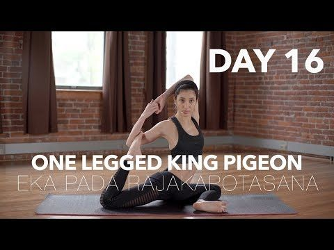 how to do one legged king pigeon  yoga tutorial day 16