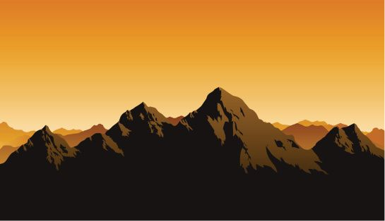Mountain Silhouette rocky mountains vector art | getty images | cool stuff | pinterest