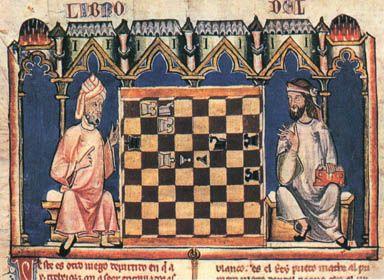 Ilustración del libro de ajedrez de Alfonso X el Sabio (1283)
