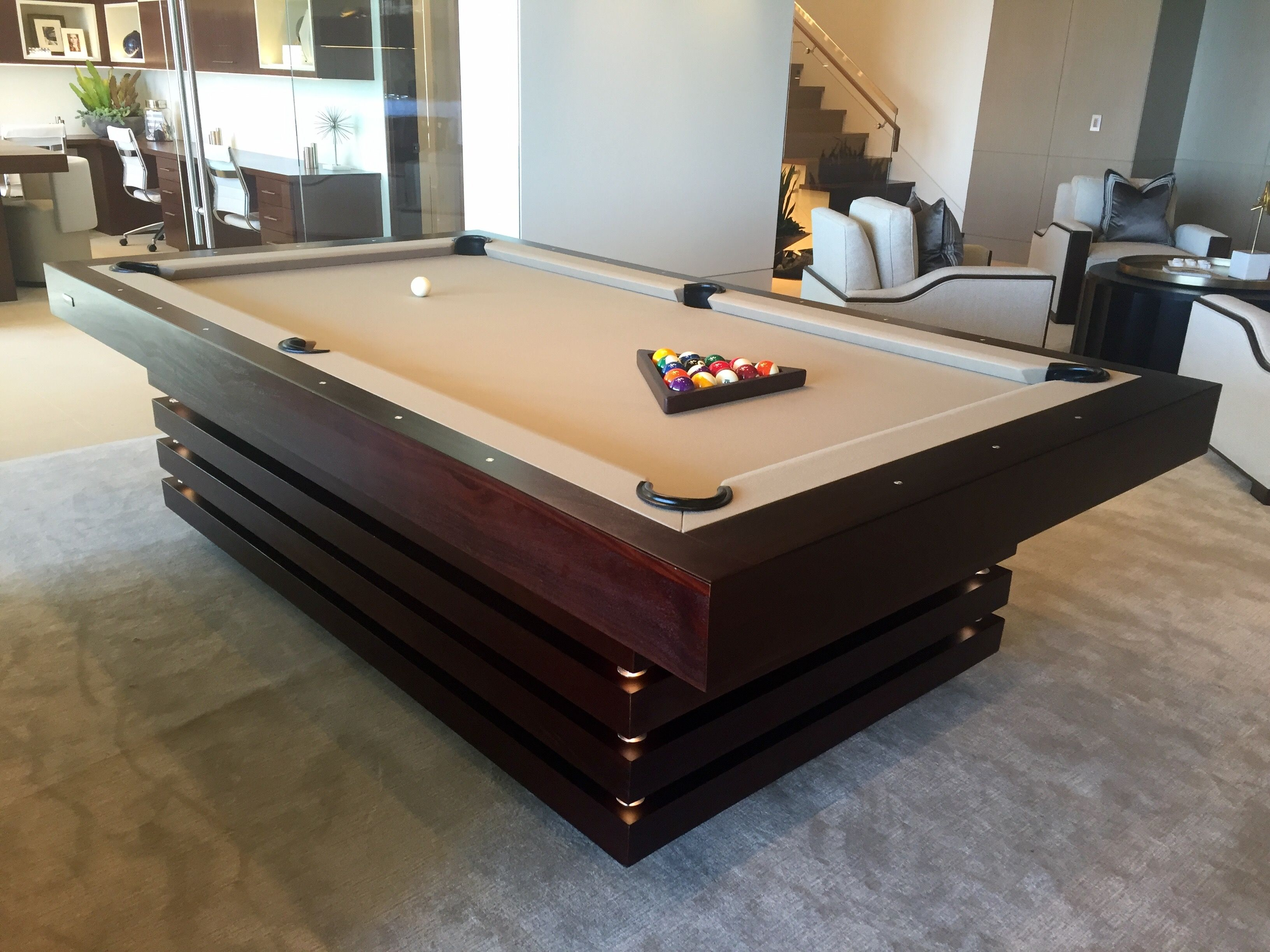 This Marquis Piece Embodies A Shrewd Thoughtful Nature Each Individually Crafted Layer Is Meticulously In Modern Pool Table Custom Pool Tables Diy Pool Table