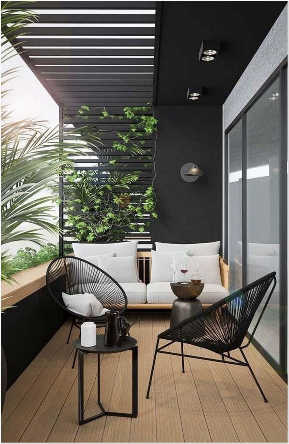 75 Relaxing Summer Backyard Patio Outdoor Seating Ideas 13 In 2020 Small Balcony Decor Balcony Decor White Room Decor #patio #furniture #in #the #living #room