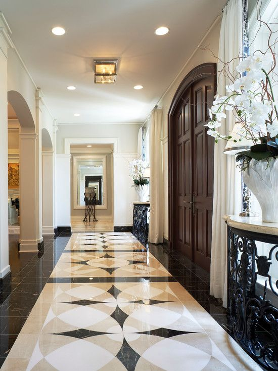 Marble floor design palm beach house traditional entry for Traditional beach house designs