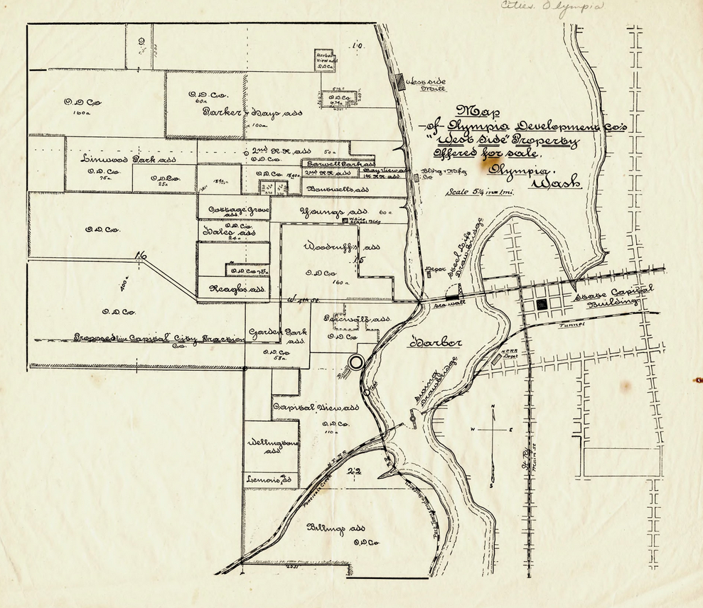 Map of Olympia Development Co.\'s \
