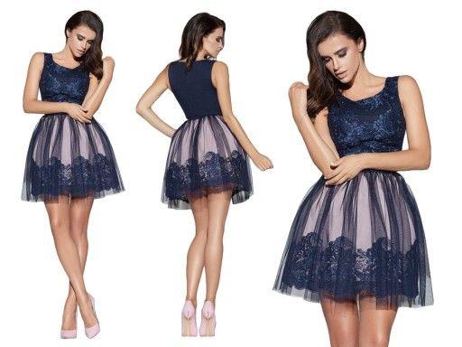 Rozkloszowana Sukienka Koronkowa Z Tiulem Wesele 6976685768 Oficjalne Archiwum Allegro Dresses Cocktail Dress Fashion