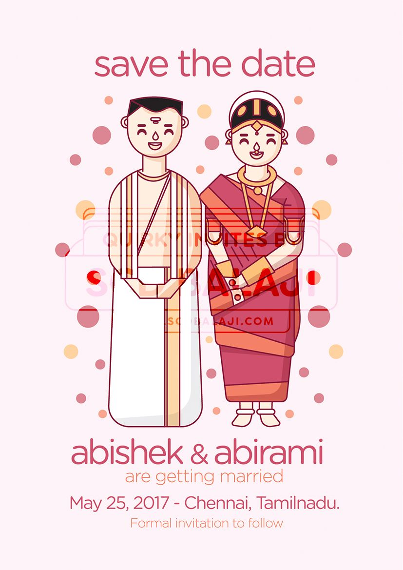 Tamil Brahmin Wedding Invitation Save The Date Einvitation