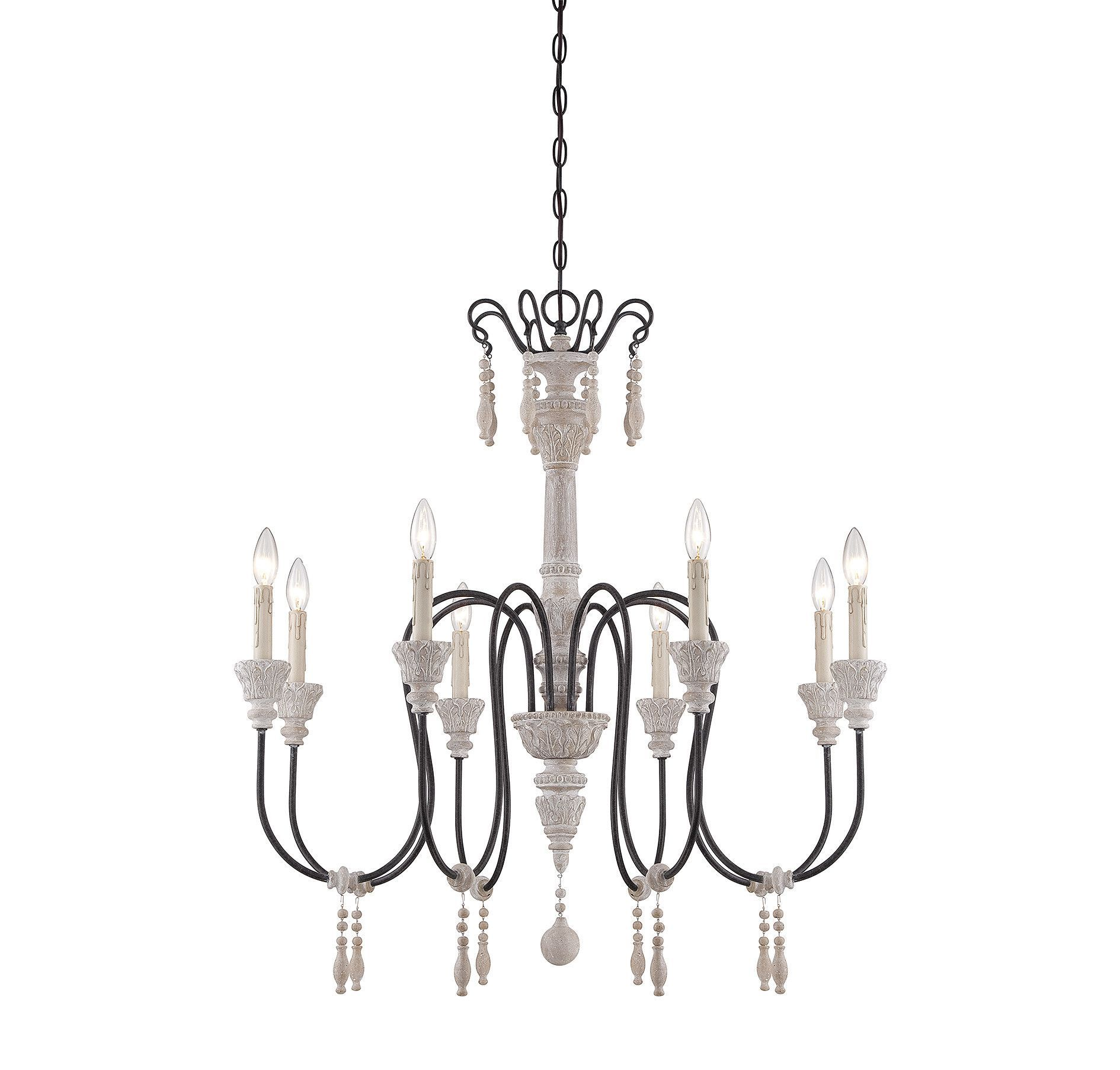 Features: -Ashland collection. -Number of lights: 8. Chandelier ...